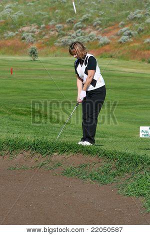 Jogador de golfe feminino