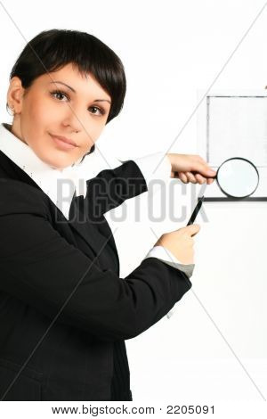 Magnifier On A Paper