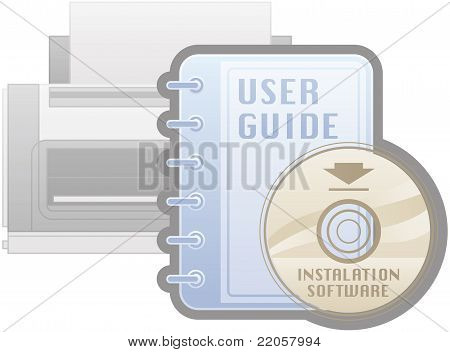 Printer Installation Software Guide Icon