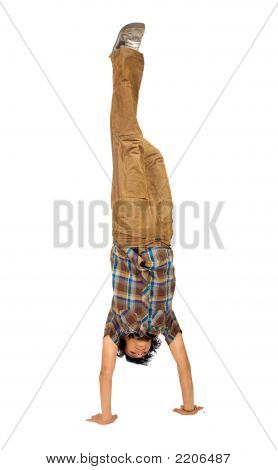 Casual Guy Doing The Handstand