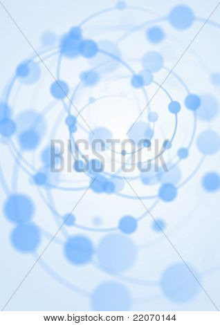 Abstract Background With Blue Spiral Lights