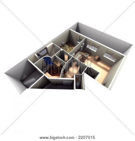 Aerial Shot Of Roofless Apartment