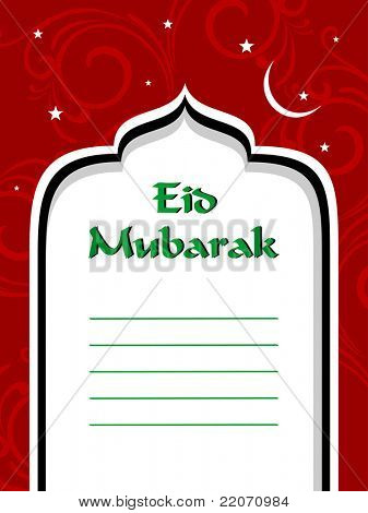 vector greeting card for eid celebration