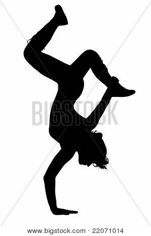 Silhouette Teen Girl Dancing