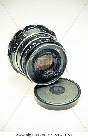 Old Camera Lens In Vintage