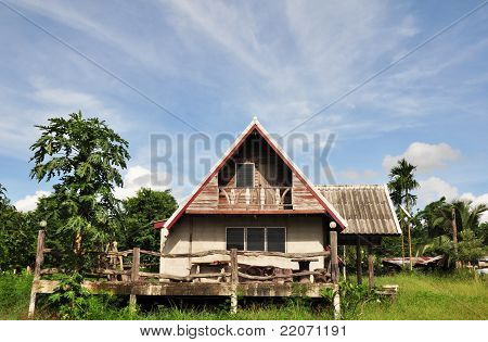 Summerhouse In The Green Field