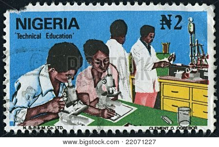 NIGERIA-CIRCA 1970:A stamp printed in NIGERIA shows image of Technical Education of Nigeria, circa 1970.
