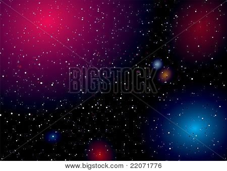 Rainbow of colours captured in this deep space landscape