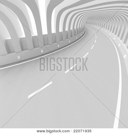 White Futuristic Tunnel