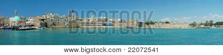 Panorama Of Old Akko - City Of Crusaders, israel