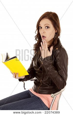 Woman Sit Read Yellow Shock