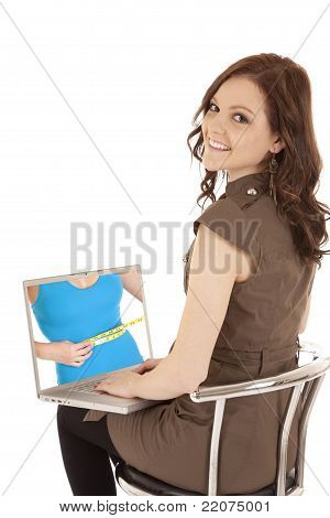 Woman Happy With Computer Screen