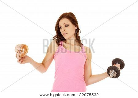 Woman Decision Doughnut