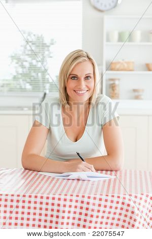Woman Proof-reading A Text