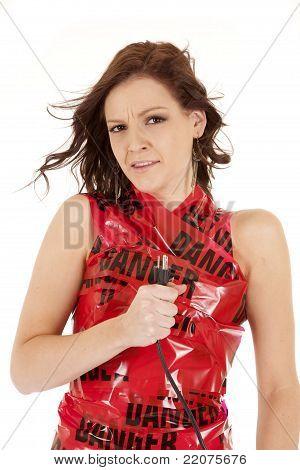 Woman Danger Cord Funny