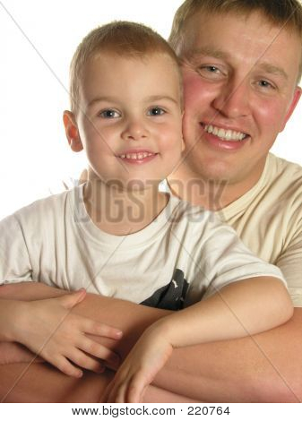 Faces Father With Son