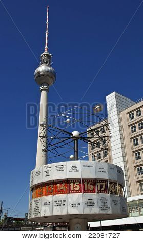 The Urania Weltzeituhr and Television Tower