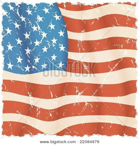 American Flag theme, grunge background for your design