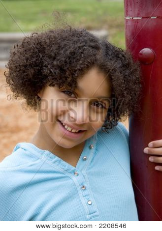 Girl At The Playground