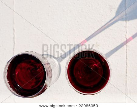 Two Red Wine Glasses