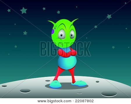 Alien On Moon