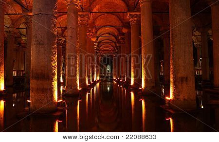 The Basilica Cistern In Istanbul, Turkey