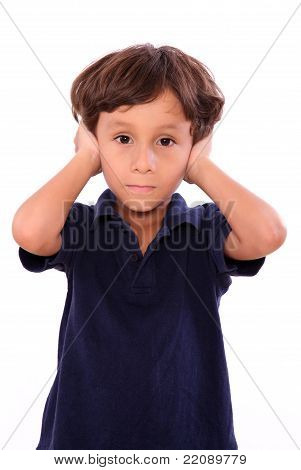 Child Covering His Ears