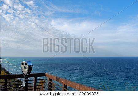 Viewfinder overlooking Lake Michigan