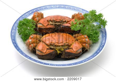 Steamed Shanghai Crabs