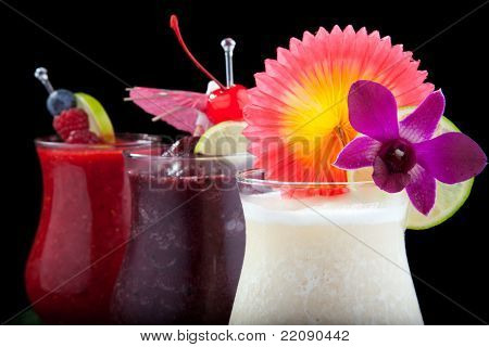 Banana, Blueberry And Raspberry Daiquiri - Most Popular Cocktails Series