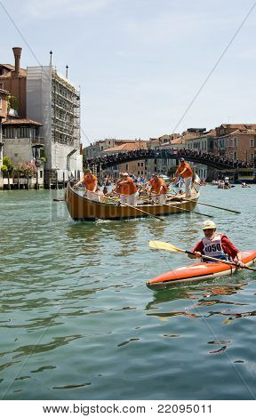 Vogalonga race, Grand Canal, Venice