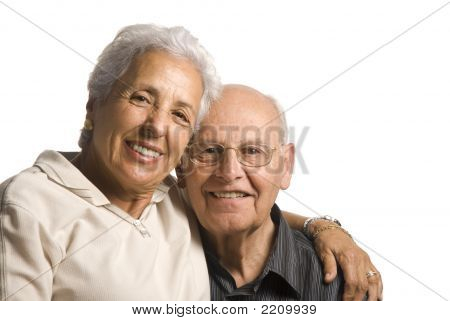 Loving, Handsome Senior Couple