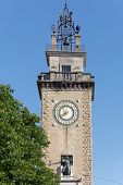 Torre dei Caduti, Memorial tower in Bergamo, Italy. The tower was erected in remembrance of the sacr poster