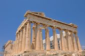 parthenon famous european tourist  travel destination in greece athens poster