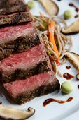 stock photo of gourmet food  - An image of gourmet Japanese seared beef - JPG