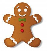 picture of ginger-bread  - Gingerbread vector - JPG