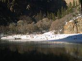 stock photo of amtrak  - Glenwood Canyon from Amtrak California Zephyr - JPG