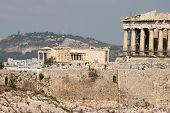 Tourists At Parthenon poster