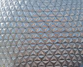 picture of geosphere  - Closeup of a geometric triangular repetitive pattern - JPG