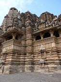 stock photo of mahadev  - Khajuraho temple with scenes from the Kama Sutra - JPG