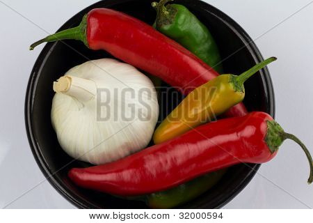 A Bowl Of Garlic And Chilli
