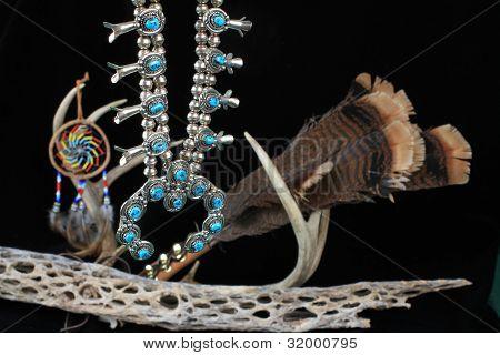 Turquoise Squash Blossom Spiritual Symbols