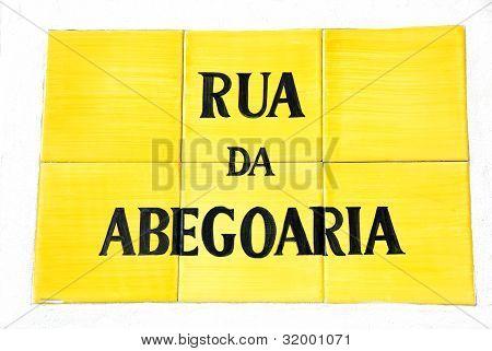 Yellow  Portuguese Tile Plaque