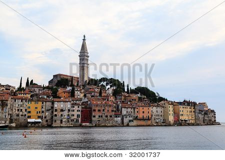 Sunset In The Medieval City Of Rovinj, Croatia