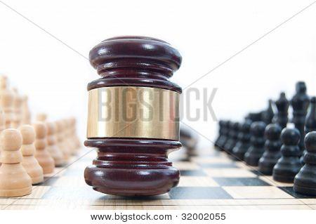 Concepto de ajedrez de ley