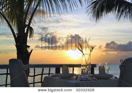 Romantic Sunset Dinner for two in the caribbean