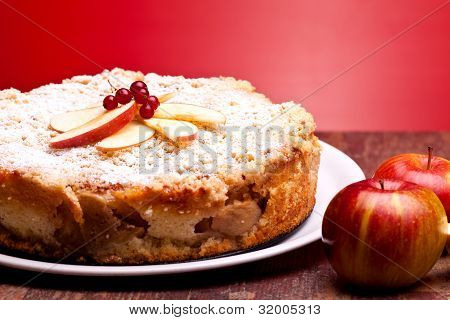 Closeup Of Apple Cake