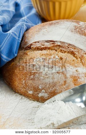 Crusty Artisan Bread With Wheat Flour