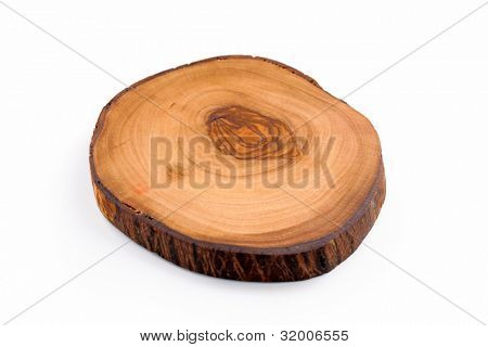 Slice of olive wood with annual rings