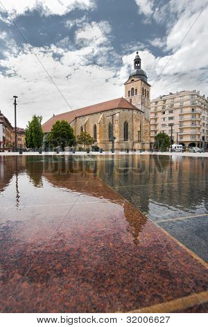 Annecy Church Saint Maurice Fountain